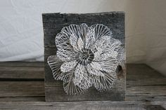 12x12 Floral Anemone Reclaimed Wood String Art by RambleandRoost, $75.00