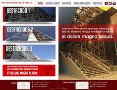 Maqueta de Sitio Web para Andiamos Chile