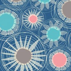 Swirls and Blooms/Emma Cooper Pretty Patterns, Modern Patterns, Textile Patterns, Textiles, Arts Ed, Surface Pattern, Swirls, Pattern Design, Bloom