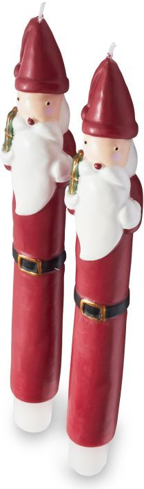 Sur La Table Santa Claus Taper Candles