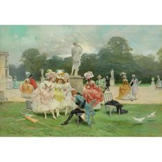 Old Masters, British & European Paintings - 04 Mar 2020 LOT 348 Dans les Jardins des Tuileries, Epoque de Louis XVI Lucius Rossi (Italian 1846-1913) Estimate: £12,000 - £18,000 Wallis, Jardin Des Tuileries, European Paintings, Old Master, Louis Xvi, Masters, Old Things, British, Art