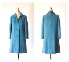 vintage 1960s Best & Co. teal wool coat / size small