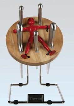 Messerblock Messerwerfer rot