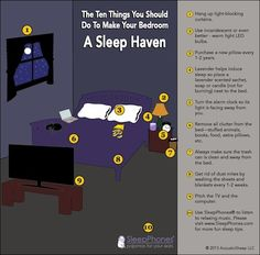 10 Ten Things You Should DO To Make Your Bedroom A Sleep Haven | Sleep Infographic