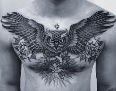 Like thousand times, 350 Comments - Bang Bang Tattoo (Burakkumanba) on Ins . Eagle Chest Tattoo, Cool Chest Tattoos, Chest Tattoos For Women, Chest Piece Tattoos, Pieces Tattoo, Cool Tattoos For Guys, Stomach Tattoos, Body Art Tattoos, Sleeve Tattoos