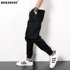 37.50$  Buy here - http://alic1u.shopchina.info/go.php?t=32799278601 - Mens Harem Pants Black Jeans For Men Hip Hop Baggy Street Clothes Men's Denim Cargo Pant Male Fashion Biker Jogg Jeans TC454 37.50$ #SHOPPING