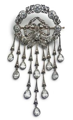 This diamond brooch belonged to the H.R.H. Princess Dagmar of Denmark, later Empress Maria Feodorovna of All The Russias (1847-1928). She gave it to a family helped her, when she lived in exile in Denmark.