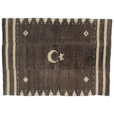 Angora Blanket with Crescent and Star | From a unique collection of antique and modern textiles and quilts at http://www.1stdibs.com/furniture/more-furniture-collectibles/textiles-quilts/