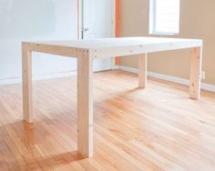 How to Make a Farmhouse Table. Easy instructions so you can make your own over a weekend!