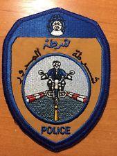 PATCH POLICE ALGERIA - Motorcycle unit