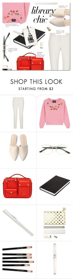 """""""STUDY SESSION: LIBRARY CHIC"""" by larissa-takahassi ❤ liked on Polyvore featuring Gucci, Boutique Moschino, Christian Dior and librarychic"""