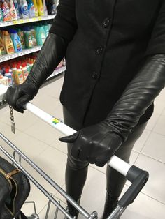 Skinny Leather Pants, Black Leather Gloves, Leather Jacket, Elegant Gloves, Rubber Gloves, Long Gloves, Fetish Fashion, Leather Fashion, How To Wear