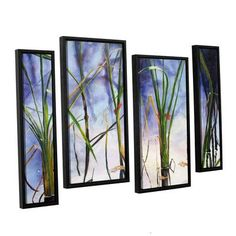 "ArtWall Mystic Pond by Marina Petro 4 Piece Painting Print on Wrapped Canvas Staggered Set Size: 24"" H x 36"" W x 2"" D"