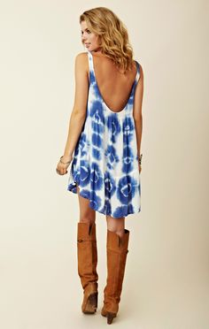 Memorial day, 4th or Labor Day. Blu Moon Babydoll Tank Dress with flag bandana headband. Minus the boots