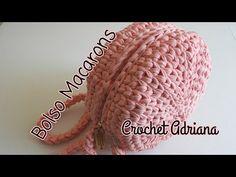Macaron Bag T-Shirt Yarn / Crochet Crochet Diy, Crochet Shoes, Crochet Round, Crochet Braids, Crochet Motif, Crochet Patterns, Crochet Handbags, Crochet Purses, Macarons
