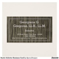 Shop Basic Rustic Legal Professional Business Card created by AponxDesigns. Simple Business Cards, Professional Business Cards, Business Card Design, Patent Agent, Card Designs, Letter Board, Things To Come, Rustic, Prints