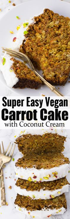 If you're looking for vegan cake recipes, this vegan carrot cake is perfect! It's one of my favorite spring recipes or vegan dessert recipes in general! Find more vegan recipes at veganheaven.org!