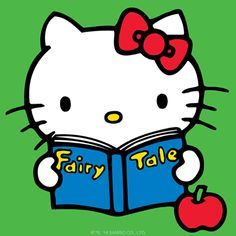 Which fairy tale is #HelloKitty reading today?