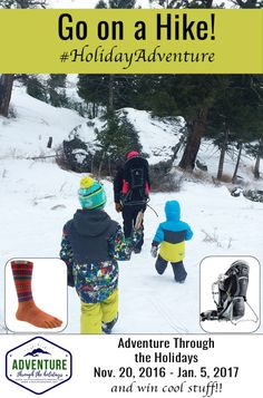 Find a trail and you can win socks from @injinji and a pack from @Deuterpacks !  #holidayadventure  Adventure Through the Holidays - Go on a Hike! http://talesofamountainmama.com/2016/12/adventure-holidays-go-hike.html