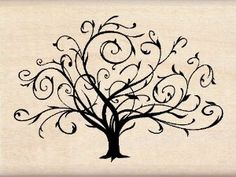 Amazon.com: Inkadinkado Wood Stamp, Flourished Fall Tree: Arts, Crafts & Sewing