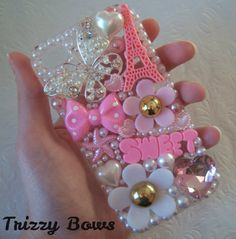 Pretty Girly Kawaii iPhone 4/4s Phone Case by TrizzyBows on Etsy, $23.00