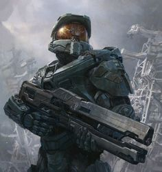 I have wasted my life playing every single halo game. When Halo 1 came out that was when I knew I was a video gamer Android Robot, Science Fiction, Design Spartan, Vida Animal, Halo Master Chief, Halo Game, Halo 3, 4 Wallpaper, Non Plus Ultra