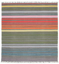 Rainbow Stripe - grau Teppich 200x200
