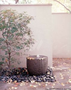 Outdoor Corner Fountains - Ideas on Foter Water Features In The Garden, Garden Features, Small Gardens, Outdoor Gardens, Garden Fountains, Water Fountains, Outdoor Fountains, Garden Ponds, Koi Ponds