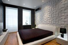 #дизайн черно-белой спальни #интерьер