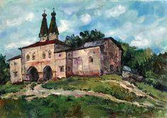 Качанов В.К. Ферапонтово. Надворная церковь.1968.