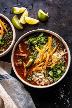 Slow Cooker Chipotle Chicken Tortilla Soup with Salty Lime Chips | halfbakedharvest.com Healthy Slow Cooker, Slow Cooker Recipes, Crockpot Recipes, Cooking Recipes, Healthy Recipes, Healthy Foods, Yummy Recipes, Soup Recipes, Keto Recipes