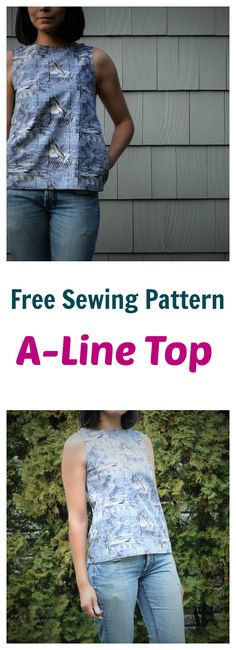 FREE Pattern + Tutorial: A-line top [size 4 to 22]. On Craftsy.