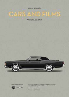 Poster of the car from The French Connection. Illustration Jesús Prudencio. Cars And Films #carsandfilms #jesusprudencio #frenchconnection #movieposter #print