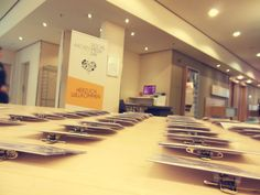Auftakt zum #SMDAC13: Morgens um 8 Uhr lagen die Namensschilder an der Anmeldung bereit. #Aachen