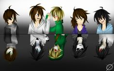 Lui, Jeff, Ben, Jane, and Ash (lost silver) Before and After :o