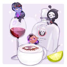 Overwatch Food Set - Talon's Beverages by CubedCake.deviantart.com on @DeviantArt