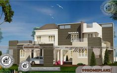 Indian Architecture House Plans Double Storey Display Homes Free Small Contemporary House Plans, Modern House Floor Plans, Best Modern House Design, Latest House Designs, House Front Design, Small House Design, Modern Houses Pictures, House Plans With Pictures, Home Design Images