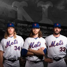 """29.4k Likes, 878 Comments - New York Mets (@mets) on Instagram: """"Name a better trio...We'll wait.  #LGM 4/3: @nsyndergaard 4/5: deGrom 4/6: @mattharvey33"""""""