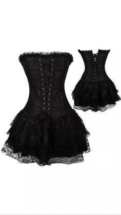 Black Corset Halloween costume