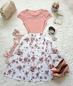 Pin by rosie palacios on clothes in 2019 fashion outfits, fashion dresses, Mode Outfits, Skirt Outfits, Casual Outfits, Cute Modest Outfits, Women's Casual, Fall Outfits, Summer Outfits, Pretty Outfits, Pretty Dresses