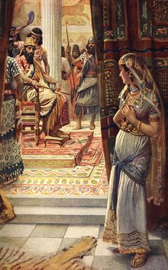 Esther, Illustration from 'Women of the Bible', Published by the Religious Tract…