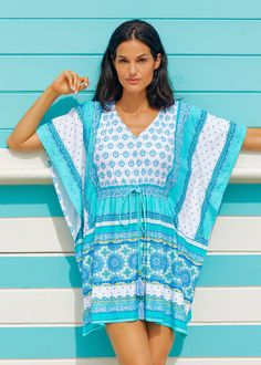 bd94125ce0 Cabana Life Hidden Cove Tie Waist Cover Up, with 50+ UV Protection Sun  Protective