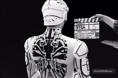 TRON - Behind the scenes photo of Bruce Boxleitner