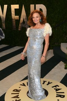 Diane von Furstenberg at Vanity Fair's Oscars After Party [Photo by Tyler Boye]