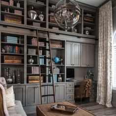 28 Dreamy home offices with libraries for creative inspiration! (Image Courtesy of Dura Supreme Cabinetry)