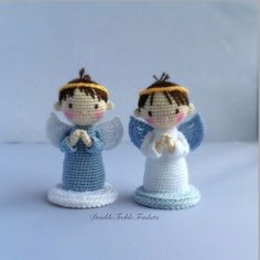 #crochet, free pattern, angel, boy, girl, amigurumi, X-mas, Christmas, #haken, gratis patroon (Engels), engel, Kerstmis, haakpatroon
