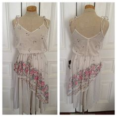 Vintage 70s sheer white floral sundress by nanapatproject on Etsy, $38.00