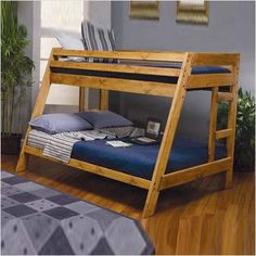 Check out the Coaster Furniture 460093 Wrangle Hill Twin Over Full Bunk Bed in Amber Wash with Built-In Ladder priced at $479. Description from pinterest.com. I searched for this on bing.com/images