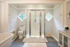 White Subway Tile Bath Design Ideas, Pictures, Remodel and Decor