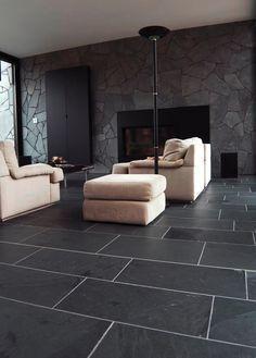 Hall tiles ideas grey limestone floor tiles for hallway flooring Grey Slate Tile, Black Slate Floor, Grey Floor Tiles, Black Tiles, Slate Stone, Limestone Flooring, Granite Flooring, Vinyl Flooring, Flooring Ideas